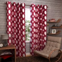 Enfin Homes 100% Polyester Door Curtain (Pack Of 2, 83 Inch/213 Cm In Height)