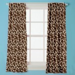 Story@Home Polyester Brown, Beige Floral Eyelet Door Curtain