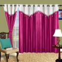 Cortina Plain Drape Window Curtain - Pack Of 2