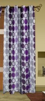 Trendy Home Polyester Purple Geometric Eyelet Door Curtain 203.2 Cm In Height, Single Curtain
