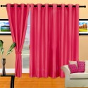 Cortina Plain Crush Door Curtain - Pack Of 2 - CRNDXV33BBCAAN3H