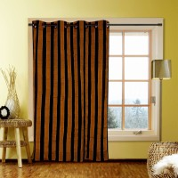 Kings Polycotton Brown Door Curtain 213.36 Cm In Height, Single Curtain