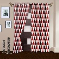 Story @ Home Polyester Multicolor Printed Door Curtain 215 Cm In Height, Pack Of 2