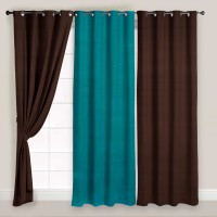 Story @ Home Polyester Multicolor Solid Eyelet Door Curtain 215 Cm In Height, Pack Of 3