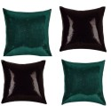 "SEJ By Nisha Gupta Rich Single Color Sequin 16"" By 16"" Cushion Cover. Cushions Cover - Pack Of 4 - CPCDYVZ5VE4FYH3U"