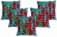 Dekor World Floral Patch Work Collection Embroidered Cushions Cover (Cushion Pillow Cover, 40*40)