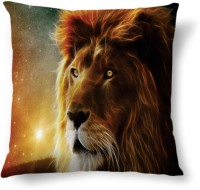 Amy Lion Face Big Abstract Cushions Cover (40.64 Cm*40.64 Cm, Multicolor)