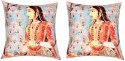 "SEJ By Nisha Gupta HD Digital Print Silk 16"" By 16"" Cushion Cover. Cushions Cover - Pack Of 2 - CPCDYVZ5YBQMH3GN"