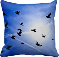 Tiedribbons Flying Bird's Printed Cushions Cover (40 Cm*40 Cm, Multicolor)