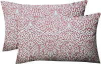 R Home Geometric Pillows Cover Pack Of 2, 70 Cm*45 Cm, Pink