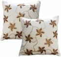 Dekor World Velvet Flower Squence Cushions Cover - Pack Of 2