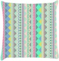 Snoogg Aztec Patterns Light Blue Throw Pillows 16 X 16 Inch Cushions Cover - Pack Of 1
