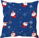 StyBuzz Cute Santa Print Cushions Cover - Pack Of 1