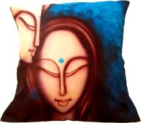 Gunjan Creations Abstract Cushions Cover (Pack Of 4, 41.5 Cm*41.5 Cm, Blue)