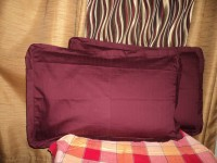 Amita Home Furnishing Striped Pillows Cover Pack Of 2, 44 Cm*69 Cm, Maroon
