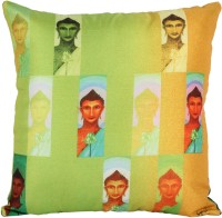 Artychoke Printed Cushions Cover (30.48 Cm*30.48, Yellow, Orange, Green, Brown)