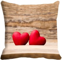 Holicshop Two Heart Digitally Cushion Cover Printed Cushions Cover (40.64 Cm*40.64 Cm, Multicolor)