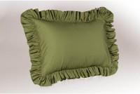 Hothaat Plain Pillows Cover Pack Of 2, 30 Cm*3 Cm, Dark Green