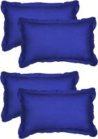 Furnishia Plain Pillows Cover (Pack Of 4, 45.72 Cm*68.58 Cm, Blue) - CPCE936XCDED47SW