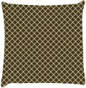 Snoogg Chequered Pattern Design 1380 Throw Pillows 16 X 16 Inch Cushions Cover - Pack Of 1