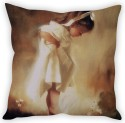 StyBuzz Sweet Little Girl Cushion Cover Cushions Cover - Pack Of 1
