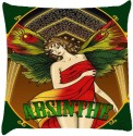 Snoogg Absinthe Fairy Throw Pillows 16 X 16 Inch Cushions Cover - Pack Of 1