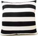 ZIKRAK EXIM Straight Stripe Black N White Cushions Cover - Pack Of 1