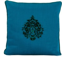 Meghaavi Embroidered Cushions Cover (40.64 Cm*40.64 Cm, Blue, Green)
