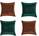 "SEJ By Nisha Gupta Rich Single Color Sequin 16"" By 16"" Cushion Cover. Cushions Cover - Pack Of 4"