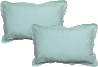 JBG Home Store Plain Pillows Cover (Pack Of 2, 38 Cm, Green)