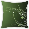 StyBuzz Green Leaf Abstract Cushion Cover Cushions Cover - Pack Of 1