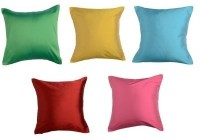 Homec Set Of Multicolor Solid Cushions Cover (Set Of 5 Cushion Covers In 12 X 12inch In Assorted Colors, 30 Cm*30 Cm)