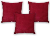 StyBuzz Solid Cushions Cover (Pack Of 3, 40 Cm*40, Maroon)