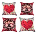 "SEJ By Nisha Gupta HD Digital Print Silk 16"" By 16"" Cushion Cover. Cushions Cover - Pack Of 4 - CPCDYVZ53ESX6BAG"
