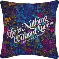 Amore Life Is Nothing Abstract Cushions Cover (Cushion Pillow Cover, 40.64*40.64)