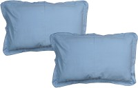 JBG Home Store Plain Pillows Cover (Pack Of 2, 38 Cm, Blue)