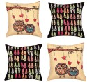 "SEJ By Nisha Gupta HD Digital Print Silk 16"" By 16"" Cushion Cover. Cushions Cover - Pack Of 4 - CPCDYVZ5Q9ENGBNA"