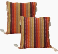Dekor World Vertical Stripes Striped Cushions Cover (Pack Of 2, 40*40)