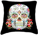 Belkado Digital Print Skull I Cushions Cover - Pack Of 1