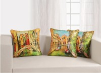 Swayam Deco Cushion Printed Cushions Cover (Pack Of 5, 40.64 Cm*40.64 Cm, Green, Yellow)