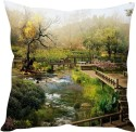 StyBuzz Old Scenery (12x12) Cushions Cover - Pack Of 1