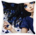 StyBuzz Blue Eyed Girl Cushion Cover Cushions Cover - Pack Of 1