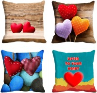 Holicshop Digitally Cushion Cover Printed Cushions Cover (Pack Of 4, 40.64 Cm*40.64 Cm, Multicolor)