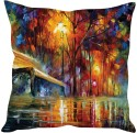 StyBuzz Abstract Painting Bench Art Cushions Cover - Pack Of 1