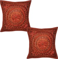 Lal Haveli Embroidered Cushions Cover (Pack Of 2, 41 Cm*41 Cm, Red) - CPCE8BZ9KGQKZCBF