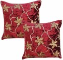 Dekor World Velvet Flower Squence Cushions Cover - Pack Of 2