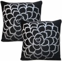 Dekor World Cotton Velvet Roses Collection Cushions Cover - Pack Of 2 - CPCDWYYRJYQ4HCPZ