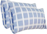 Milano Home Checkered Pillows Cover Pack Of 2, 48 Cm*76 Cm, Blue