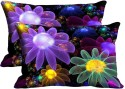 Mesleep Multi Flower Digitally Printed Pillows Cover - Pack Of 2