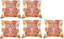 Belkado Digital Print - Vintage Owl-II Cushions Cover - Pack Of 5